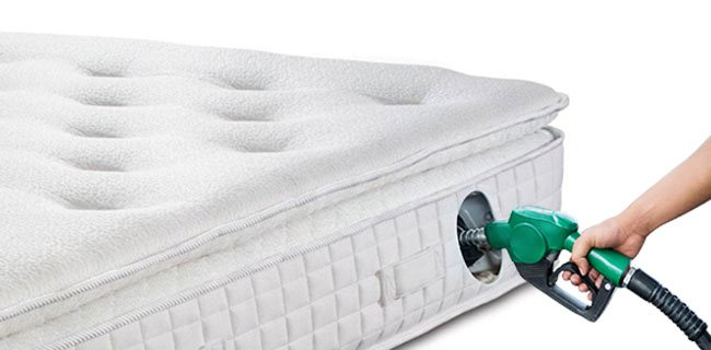picture of a mattress with a oil pump in it