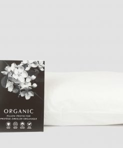 GOTS certified organic cotton pillow protection. Made in Canada.