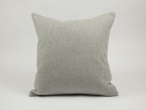 100% cotton., washable pillow - BISA Pillow Pebble color - Feather fill included. Cover finished with knife edge and zipper. Available in three colours.